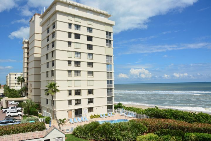 SE Corner directly on the ocean in Juno Beach. This 3/2 unit has fantastic ocean views from almost every room. Feels like a private beach house due to it's lower floor and corner location. New kitchen 2019, all impact windows and sliding doors. Lock and leave without the hassles of closing storm shutters ... Huge master bedroom overlooks the beach and opens to a large covered screened porch. Sleep with the doors open and let the waves lull you to sleep. Guest bathroom redone a few years. Unit clean and well maintained, but awaits your personal updates. EZ to show. Offered furnished for the convenience of the buyer.