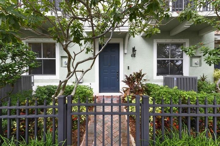 Fabulous updated 3/3.1 town home in the heart of downtown Delray Beach with a 2 car garage. Enjoy walking to all the great restaurants and shopping, only 1 mile to the beaches and just next to the tennis center! This is a rarely available large unit with 1,820 LivSqFt with exquisite details such as decorative stone walls, crown molding, tile floor throughout, stainless steel appliances. The monthly HOA includes high speed internet, HD Cable with over 120 channels, roof maintenance,  exterior pest control and the security gate.  The unit is is very tastefully furnished and turnkey including BBQ, ping pong table and more. The association has a nice community pool and is pet friendly. A must see!