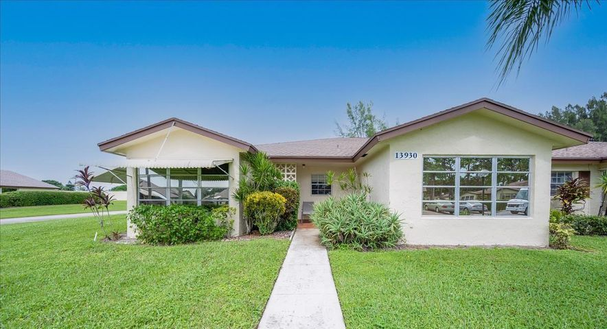 Totally Renovated! Move right in and enjoy! . Florida Room renovated into a Bedroom. Non Conforming 2nd Bedroom.  No Popcorn Ceiling. New Kitchen, bathrooms and interior paint. Newer appliances, New windows covering and ceiling fans, Seller has spend over $10,000 on furniture and accessories (only 4 years old). Washer and Dryer include in the Villa.