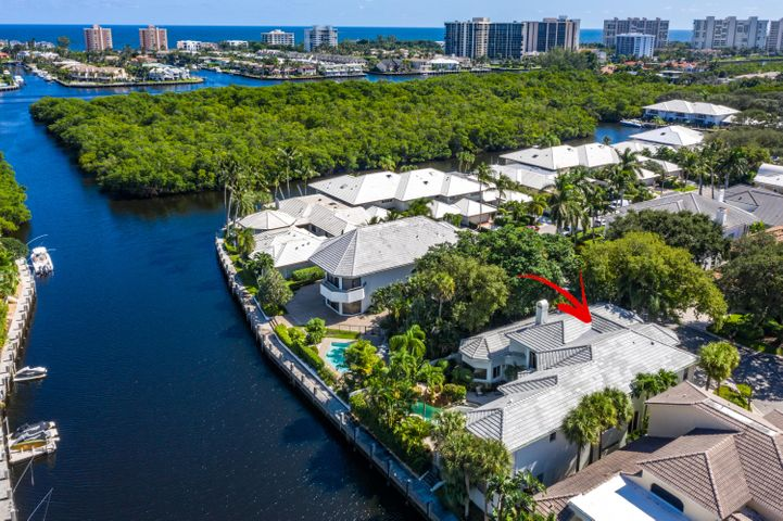 East Boca Deepwater Estate sited on a 11/2 Lots in a Cul-de-Sac offering Space and Privacy in Guard-Gated Waterfront Community w/ 75' of Deepwater Private Dockage in your Backyard!  Featuring 5 Bedrooms Ensuite (includes a 2/2 Guest House w/ Kitchenette), Plus an Office, 21' Volume Ceilings, Oversized Resort Pool w/ Waterfall, Extraordinary 1st Floor Master Bedroom Suite, and an Open Floorplan! Other features include 3-Car Garage, Brand New Roof, Whole House Generator Powered w/ Natural Gas, Quick Access to Intracoastal, a Boater's Dream Home on a Deep, Wide Canal- Bring your Mega-Yacht!   Boca Marina Yacht Club has a Brand New State-of-the-Art Clubhouse, Tennis, New Bocce Ball Court, Playground & Newly Finished Pool & Spa, including 24/7 Manned Security!  See Addendum for additional Details Boca Marina Yacht Club offers a 24 hour manned security gate and is ideally situated just three miles from Boca Raton's renowned Mizner Park, three miles from Delray's famous Atlantic Avenue, and just one mile from the I-95 Yamato Road interchange. In the last two years, Boca Marina Yacht Club has completed an entirely new $500,000.00 entrance with new water features, new lighting, and new landscaping, including a newly renovated and state-of-the-art Clubhouse w/ Kitchen and catering amenities. Two recently renovated and lighted Har-Tru tennis courts, a children's playground, and deeded and protected yacht dockage are all available to Boca Marina Yacht Club's residents. The community is also pet friendly. Minutes to world renowned shopping, dining, entertainment, and hospital facilities, Boca Marina Yacht Club is the perfect prestigious community for buyers coveting an upscale, waterfront lifestyle.