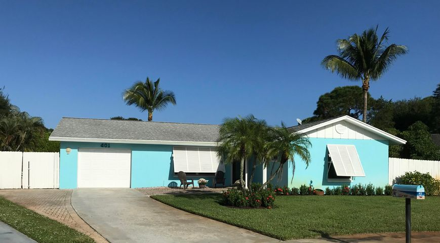 Cute 3/2/1 w/salt water pool at the end of a quite cul-de-sac in the heart of Jupiter with NO HOA. Close to everything, Jupiter High School, Jupiter Elementary, Library, Restaurants, Shopping and Beaches. Home has impact windows and doors, plus hurricane shutters (roll down and panels), A/C 2016, Water Heater 2016, Kitchen Remodel 2015, Guest Bath 2017, Interior Painted 2019, New Salt System for Pool 2019, Attic Insulation 2019, Cartridge Filter for Salt Water Pool 2020, Sprinkler Pump 2020. Crown Molding Throughout, Large Tropical Back Yard with a Privacy Fence, Mango Tree and Gardenia.