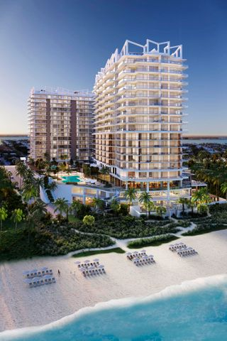 With expansive, direct ocean views from nearly every room, this luxe new-construction condo is oceanfront living at it's finest. Soak up the refreshing salt air from your 325 sf southeast exposed terrace. Design features include imported porcelain flooring throughout, a custom designed kitchen with European cabinetry, expansive quartz countertops and top-of-the-line appliances, master bathroom with frameless glass-enclosed rain shower and a soaking tub plus double sink vanity. ''Smart Home'' ready infrastructure with ultra-high-speed connectivity allows for customized automation. Your unparalleled resort experience includes a 24-hour attended lobby, valet parking, private entry to residential areas, private pool with stunning views of the Atlantic Ocean, whirlpool spa, state-of-the-art gym yoga terrace and meditation garden, private social rooms, dog walk area, social terrace & BBQ area, beach services, access to maid service and room service plus four food & beverage outlets on property. Spa membership also available. Live where timeless eastern philosophies meet sophisticated western luxury.  *Photos are representative of finishes but do not show actual unit. Please see attached floor plan for layout and call to schedule your private tour today.
