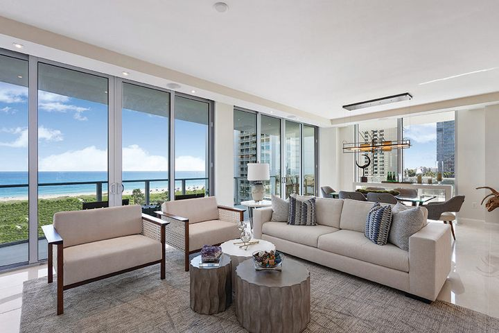 Fabulous ocean and resort views from a mid-level unit in the Peace Tower. This 2-bedroom, 3 bath condo plus den/study is comprised of 2,200 sq ft of living space. Entertain off your 300 sq ft outdoor terrace and enjoy the ocean breeze. Interior features include an open floor plan with an expansive master suite as well as a split plan that offers a VIP suite.  Amrit offers contemporary coastal living with top-of-the-line amenities and a one-of-a-kind wellness lifestyle in The Palm Beaches. Set to open in the spring, Amrit is a Wellness Resort set on just under 8 acres with over 300' of oceanfront, offering 182 private residences. All residences are move-in ready with Italian porcelain flooring, top-of-the-line Italkraft custom cabinetry, quartz counter-tops, Wolf and Sub-Zero appliances, high-impact glass, and oversized wraparound balconies. The Resort offers 155 hotel rooms and over 100,000 sq. ft. of wellness amenities, incl. a 56,000 sq ft Wellness Spa with hydro services imported from Sweden. Four food and beverage venues on-site including concierge services. Make Amrit your primary destination for the health and wellness lifestyle that you deserve.