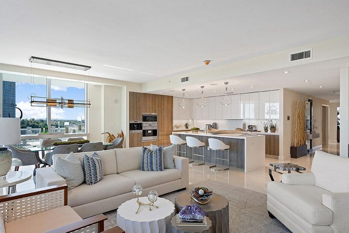 Fabulous ocean and resort views from one of the largest penthouse units in the Peace Tower. This 2 bedroom, 3 bath condo plus den/study is comprised of over 3,000 sq ft of living space. Entertaining is easy when you have over 2500 sq ft in the outdoor entertainment area including the terrace and roof deck which includes an outdoor kitchen, fire pit, and spa. Amrit offers contemporary coastal living with top-of-the-line amenities and a one-of-a-kind wellness lifestyle in The Palm Beaches. Set to open in the spring, Amrit is a Wellness Resort set on just under 8 acres with over 300' of oceanfront, offering 182 private residences. All residences are move-in ready with Italian porcelain flooring, top-of-the-line Italkraft custom cabinetry, quartz counter-tops, Wolf and Sub-Zero appliances, high-impact glass, and oversized wraparound balconies. The Resort offers 155 hotel rooms and over 100,000 sq. ft. of wellness amenities, incl. a 56,000 sq ft Wellness Spa with hydro services imported from Sweden. Four food and beverage venues on-site including concierge services. Let Amrit become yours, and enjoy your own Unique Personalized Wellness Lifestyle - you deserve to take advantage of what Amritt offers - indoor and outdoor amenities designed through cutting edge science, tools/technology, and service.