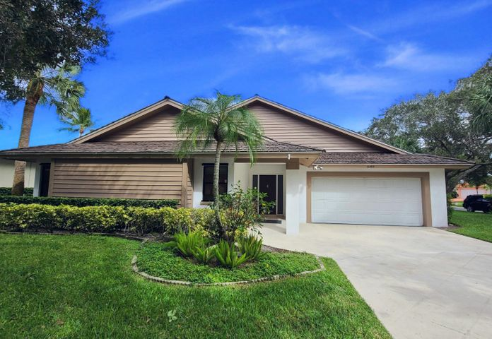 Bright, recently renovated home in the desirable community of the Shores of Jupiter. This home offers a split floor plan, spacious master bedroom/living room, a brand new kitchen with stainless steel appliances, quartz counter tops, new cabinets, and new waterproof vinyl flooring throughout. House is located on a corner lot of a beautiful oak-tree lined street. The community includes lakes and plenty of sidewalks for walks/jogs. Minutes to beaches, shopping, and everything else that Jupiter has to offer.