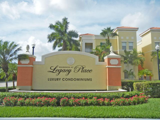 Residences At Legacy Place. Beautiful ground floor 2 bedroom. Smart floor plan with 2 master suites, lots of closet and storage space. Light and bright. Very well maintained