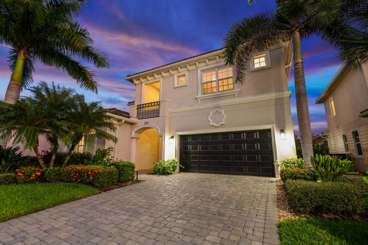 Have you been searching for the PERFECT move-in-ready coastal designed home in South Florida, fully upgraded, with a large backyard, a pool, and in a gated community? Your search is over! 228 Carina will check all your boxes and more!This home has been upgraded from top to bottom, including the kitchen of your dreams designed exclusively by local custom kitchen expert, Schrappers, and is being offered fully furnished or unfurnished!  Upgrades include a spectacular kitchen renovation with the brand new and highly sought after custom Cafe appliances with a brushed bronze finishes (including a 6-burner stove with double induction oven, built-in microwave/convection oven), HUGE Cambria (''Summer Hill'') countertops, an oversized single basin sink, gorgeous custom moldings [CLICK FOR MORE]   throughout, bamboo flooring in the bedrooms and upstairs, impact windows throughout, an oversized lot with sparkling pool and hot tub, brand new master bathroom renovation, custom lighting throughout, and a gorgeous custom built-in bar with ice maker and refrigerator.  The master bedroom suite features his and hers closets and a large bathroom with frameless shower and separate tub.  There is also an additional full ensuite guest bedroom on the downstairs level AND an office (which could be a bedroom).  The two remaining guest bedrooms are upstairs, along with an adorable reading, study or piano nook in a lofted space.  This home has the perfect combination of a spacious open floorplan, while maintaining the intimate family spaces for entertaining, including a formal dining room space, expansive family room, and fantastic indoor-outdoor flow.  The home is anchored with modern ceiling fans, updated designer light fixtures, LED lighting, gorgeous custom built-in shelving (including the beautiful built-in in the family room -- big enough for an 80 inch TV), a brand new AC unit, custom pull-outs and soft close drawers throughout, plantation shutters, lush custom landscaping -- this home 