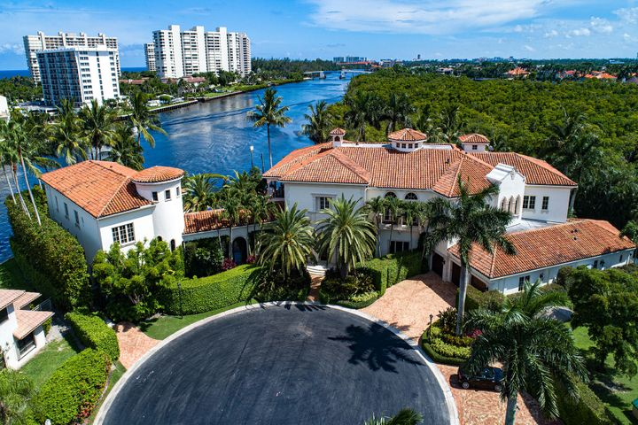 Stately Palm Beach-inspired Mansion sited on The Sanctuary's finest 2.25 trophy Intracoastal point lots with 410+/- feet of amazing wraparound waterfrontage on 3 sides with protected mega-yacht dockage. Grand main house and separate guest house with connecting palatial loggia looking down the Intracoastal Waterway. Verdant formal gardens with meandering paths and ultimate privacy. Once in a lifetime opportunity to acquire this generational Boca Raton trophy estate. DISCLAIMER: Information published or otherwise provided by the listing company and its representatives including but not limited to prices, measurements, square footages, lot sizes, calculations and statistics are deemed reliable but are not guaranteed and are subject to errors, omissions or changes without notice. All such information should be independently verified by any prospective purchaser or seller. Parties should perform their own due diligence to verify such information prior to a sale or listing. Listing company expressly disclaims any warranty or representation regarding such information. Prices published are either list price, sold price, and/or last asking price. The listing company participates in the Multiple Listing Service and IDX. The properties published as listed and sold are not necessarily exclusive to listing company and may be listed or have sold with other members of the Multiple Listing Service. Transactions where listing company represented both buyers and sellers are calculated as two sales. The listing company's marketplace is all of the following: Vero Beach, Town of Orchid, Indian River Shores, Town of Palm Beach, West Palm Beach, Manalapan Beach, Point Manalapan, Hypoluxo Island, Ocean Ridge, Gulf Stream, Delray Beach, Highland Beach, Boca Raton, East Deerfield Beach, Hillsboro Beach, Hillsboro Shores, East Pompano Beach, Lighthouse Point, Sea Ranch Lakes and Fort Lauderdale. Cooperating brokers are advised that in the event of a Buyer default, no commission will be paid t