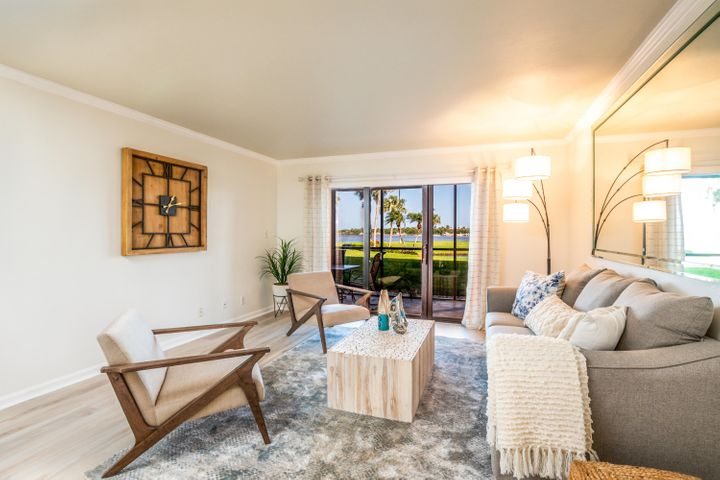 Intracoastal living at its best! Beautifully upgraded unit! Freshly painted, NEW floors, NEW stainless steel appliances, newer tankless water heater and brand NEW AC! Enjoy the spectacular water views right from your private patio. First floor 2/2 condo just steps away from the Tequesta intracoastal waterways. Broadview is a 55+ community with first class amenities such as clubhouse, resort style pool, grills, shuffle board and pier. New pictures coming soon!