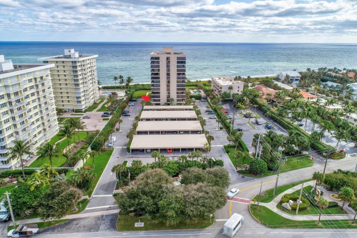 This oceanfront condo has undergone extensive renovations and provides a true turnkey opportunity.  Bring your toothbrush and sandals and simply enjoy the best of Juno Beach!   Porcelain flooring throughout, all impact sliders, accordian shutters, elegant kitchen adorned with solid wood cabinets with soft close doors/drawers, granite counters/backsplash, ss appliance suite, lots of storage and pull out drawers. A/c replaced in 2017, roll down blinds, plantation shutter in bedrooms and  so much more.  Watch the sun rise and ocean roll on your expansive 26 foot balcony.  Building offers: private beach access, oceanfront gazebo, bike storage, personal storage lockers with 14' ceilings, charming lobby, heated salt water ocean-side pool, club room on-site management,