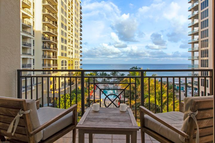 This rarely available 1-bedroom direct oceanfront hotel condo has an amazing view of the ocean and the infinity pool deck. There are only 21 direct ocean facing hotel condos in this 4 diamond Marriott Resort and these units command a high room rate while benefiting from lower maintenance fees due to their optimum size. The Resort at Singer Island offers fabulous luxury resort living with all of the amenities but without the high price! This 1 bedroom, 1 bath 719 s.f. oceanfront suite has sunny Southeastern views. Top-of-the-line stainless steel appliances, beautiful marble floors, baths and counter-tops, Wonderful turnkey vacation getaway or investment property on beautiful and unique Singer Island. Join the Marriott's optional owner's rental program to generate income. The Resort at Singer Island combined with The Marriott Resort is a diverse smoke-free resort featuring 239 all-suite resort units and 66 residential condominiums. The resort includes 4,000 square feet of meeting space, an 8,500-square foot spa, and all of the amenities and services one would expect from a world-class facility. Butler Service, valet attendants, and a full-time concierge will enrich guest experiences and activities, including coordination of private events, theater tickets, dinner reservations, and travel arrangements  Experience the essence of elegance in one or two bedroom resort units ranging from 800 square feet to just over 2,100 square feet of living space. Decorated with dark wood tones, stainless steel kitchen appliances, and marble baths, the resort offers a luxurious contemporary modern edge. Enjoy majestic views of the Atlantic Ocean or Intracoastal Waterways from the expansive terraces in each suite. Dining options include an alfresco ambiance at the ocean side eatery, the convenience of room service, or special events catered within the stunning entertainment veranda. Even a temperature-controlled wine room is available to store private wine collections. The white sands of Singer Island provide the ultimate place to relax. Attentive pool and beach side attendants provide everything from plush beach towels and relaxing lounge chairs to tempting frozen libations. Outdoor private cabanas are the ideal place to enjoy a casual poolside lunch. Nestled between the celebrated Palm Beach Worth Avenue shopping district, Palm Beach Gardens & Jupiter's world-class golf courses and Wellington's equine country, the Resort at Singer Island is just minutes away from Palm Beachs' finest dining, entertainment, shopping venues and the Palm Beach International Airport. Awake each morning in Florida's sport-fishing capital, explore the alluring antiques, art and fashion shops and galleries in West Palm Beach or partake in the equestrian life at Wellington's Polo and riding clubs. Shop till you drop at Worth Avenue, Gardens Mall, City Place, Downtown at the Gardens and the Palm Beach Outlet Mall. Test your golf skills at famous golf courses such as the Bear's Club, Trump National, the Medalist, Old Palm, Seminole Landing and PGA National. The Palm Beaches offers something for everyone.