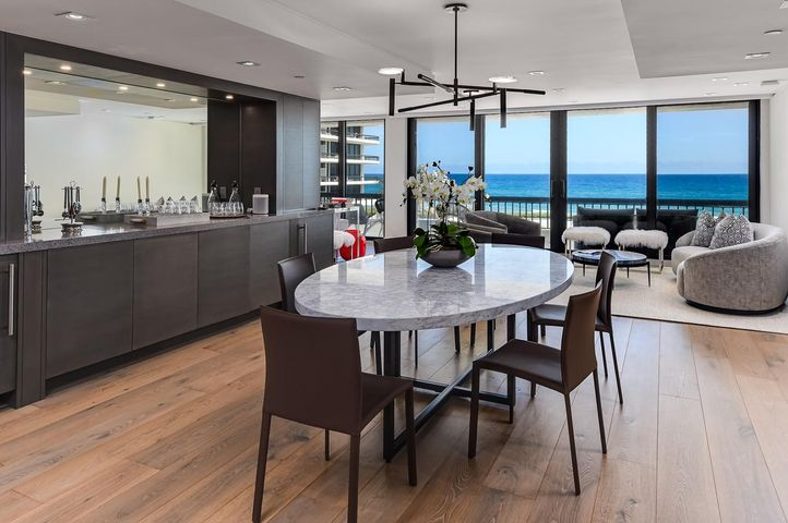 Magnificent new renovation, Floor to ceiling views ocean to lakefront from every room. This 3 bedroom, 3 1/2 bath spectacular unit lives like a house and has never been lived in. Wrap around terrace, 2 pets with no weight restrictions, plus pool, tennis and gym. Brand new lobbies as of May 1, 2021. 3 units to a floor. This upscale property is for someone who will only accept the very best!