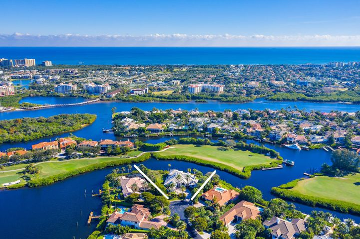 Location is timeless...Elegant views of the 17th fairway and tranquil canal. Private dock, 235 ft of water frontage + no fixed bridges. The parcel is .61 acres and located in the park-like setting of Jonathan's Island. Jonathan's Landing membership is not mandatory but highly desirable. Estate home w/ 4 bedrooms and study; 3 car garage plus golf cart bay. Effortless floor plan highlights privacy and lifestyle. Master suite w/ incredible space! His/Her baths plus large closets. Three guest suites w/private baths. This property is one of a kind awaiting the special buyer to enhance the existing and style it their own.