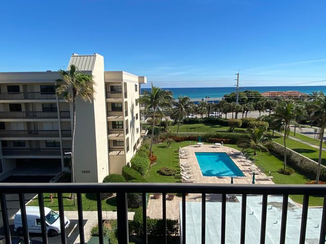 Welcome home to your beachfront residence located in desirable Juno Beach. Enjoy the spectacular ocean views from the full length balcony. You'll love this updated, spacious, fully furnished 2 bedroom, 2 bathroom condominium with impact doors, crown molding, washer& dryer, under building parking and storage and so much more! Sea Images a boutique low rise building with just 5 floors.  The  welcoming lobby, and tropical pool, and private beach access are only a few of the highlights.  It's also a pet friendly building.  This condominium is located on the top floor featuring a breathtaking pool and ocean view and just steps from the pristine tropical beach. Close to many golf courses, shopping, dinning, the airport. Dreams can come true!