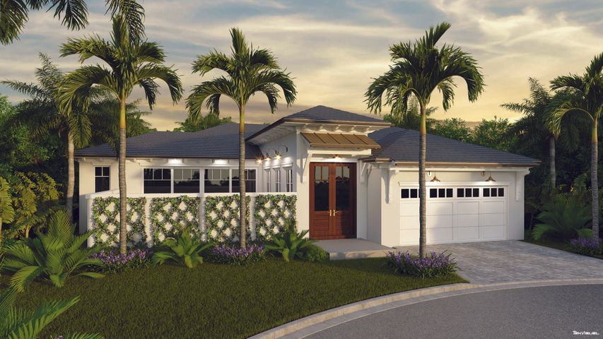 Nestled along the oak canopied streets of The Loxahatchee Club in Jupiter, FL, lies this beautifully crafted new construction home by Maxwell Building and Kara Miller Interiors. Attention to detail was paramount in constructing this concrete block home with hurricane rated impact windows and doors. The architecture is British West Indies with a flat cement tile roof and double mahogany entry doors. Inside you will find marble in the main living areas, white custom shaker cabinets in the kitchen, quartz countertops with a mitered edge, and professional series paneled appliances. The trim package is better than most homes three times this price point with built-in cabinetry in the great room and many of the bedrooms... In the master bathroom, you find an open concept with an oversized frameless glass shower, free-standing contemporary tub, custom cabinetry, and quartz vanity tops. All closets come with custom-designed built-ins for clothing, accessories, and shoes. The Guest Suites are ample, cozy, and warm, all with walk-in closets and ensuite baths. This home is new and will be ready for occupancy in April of 2021.