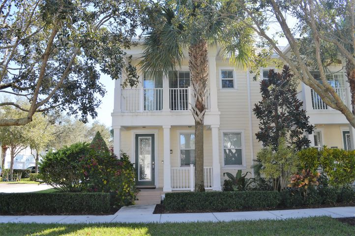 Immaculate light and bright corner unit with a spacious Domed screened patio.  Key West style Metal Roof. This corner unit is located steps away from the Clubhouse/Fitness Center/Mailroom and Pool.  Neutral tile on the first floor with scraped hardwood floors on stairs and 2nd floor. Granite counters with Stainless Steel appliances. Interior and patios newly painted. Plantation Shutters. Ready to Move-In