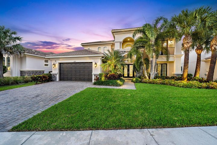 Rare opportunity to own one of the most Beautiful + Impeccably designed homes in all of Jupiter.   This custom residence is offered fully 'turnkey' furnished (curated by Naples top interior designer) and is Move in Ready! This coveted 6 BR Treanna model  offers the perfect blend of comfort + elegance.   Design elements include marble + wood floors, chef's kitchen w/ Wolf + Sub Zero appliances + custom lighting (indoors + out) + window treatments.   Grand Owners suite boasts dual room sized closets, luxe bath + private lanai.   Tropical outdoor area w/ Amazing summer kitchen + VIEWS!  Outfitted w/ Nest system, Sonos, security cameras + 20KW generator.  Enjoy Country Club living w/ resort amenities + superb reciprocal privileges!  Close to best beaches, dining, shopping, educational + cultural venues as well as Palm Beach County + private airports.   Jupiter Country Club is Northern Palm Beach County's newest Golf community, featuring a signature Greg Norman course set amidst a certified audubon sanctuary graced with picturesque lakes + greenery.  Enjoy a healthy lifestyle with miles of lit sidewalks for walking and/or biking.  A beautiful life awaits you in one of Jupiter's most spectacular communities!