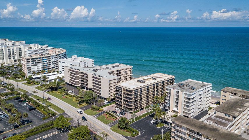 Enjoy gorgeous sunsets from this palatial 3 Bedroom, 3.5 Bathroom corner unit. This unit is ideally located just a few short steps away from the beach, Eau Palm Beach Resort and Spa, Publix, and has a location that is equidistant to downtown West Palm and Delray Beach. This boutique oceanfront building is pet friendly. Unit comes with covered garage parking and gated entry.