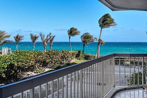 Great opportunity to live on the ocean in Palm Beach. Interior designer own unit. Each room has the finest details. Kitchen and bathroom totally renovated. Impeccable taste and style throughout. Spacious balcony overlooks ocean. Ocean views from every room. Pet friendly, building ,tennis fitness, pool sauna, door person..