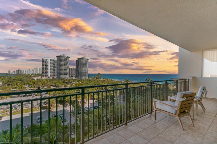 Sensational oceanfront luxury resort living with all of the amenities without the high price! Rerely available 2 bedroom, 2 bath, 1,045 s.f. oceanfront suite with amazing Northwest views! Large wrap-around terrace for sunbathing or for enjoying an intimate dinner and drinks under the stars. Wonderful vacation retreat, relaxing & rejuvenating getaway or investment property on beautiful Singer Island. Eligible for the Marriott's optional owner's rental program. Featuring 239 all-suite resort units and 66 residential condominiums, the resort includes 4,000 square feet of meeting space, an 8,500-square foot spa, and all of the amenities and services one would expect from a world-class facility. Butler Service, valet attendants, and a full-time concierge will enrich guest experiences and activities, including coordination of private events, theater tickets, dinner reservations, and travel arrangements. Experience the essence of elegance in one or two bedroom resort units ranging from 800 square feet to just over 2,100 square feet of living space. Decorated with dark wood tones, stainless steel kitchen appliances, and marble baths, the resort offers a luxurious contemporary modern edge. Enjoy majestic views of the Atlantic Ocean or Intracoastal Waterways from the expansive terraces in each suite. Dining options include an alfresco ambiance at the ocean side eatery, the convenience of room service, or special events catered within the stunning entertainment veranda. Even a temperature-controlled wine room is available to store private wine collections. The white sands of Singer Island provide the ultimate place to relax. Attentive pool and beach side attendants provide everything from plush beach towels and relaxing lounge chairs to tempting frozen libations. Outdoor private cabanas are the ideal place to enjoy a casual poolside lunch.  Nestled between the celebrated Worth Avenue, world class Palm Beach Gardens and just a short drive to Jupiter golf courses and Wellington's equine country, the Resort at Singer Island is just minutes away from Palm Beach's finest dining, entertainment and shopping and the Palm Beach International Airport.