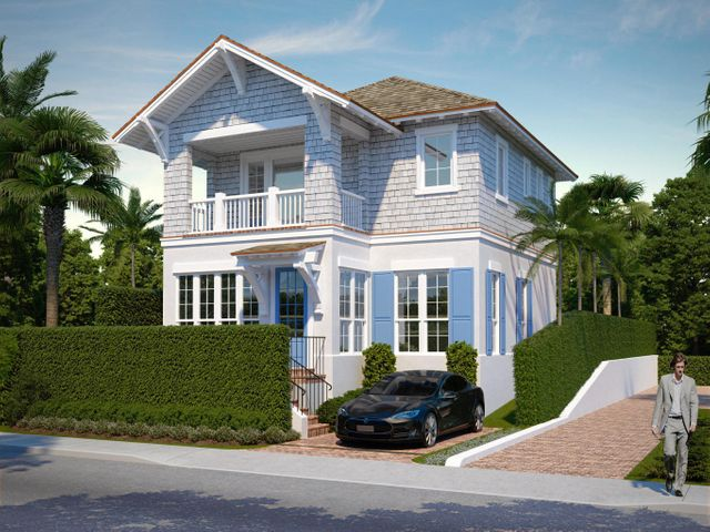 Brand new construction! Ready end of February. Two story single family home with elevator, top of the line appliances and quartz countertops - all in the heart of everything you need - restaurants, shopping, lake trail and beach. One block north of Publix. Hardwood & tile throughout.