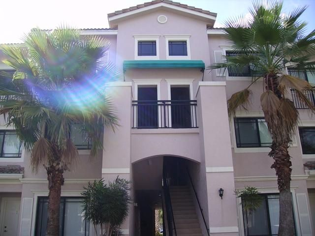 Minimum credit score 650 per adult. Laminate wood floors. Impact windows and slider. Split floor plan with walk in closets in master. Volume ceilings, screened balcony, outside storage closet. Laundry room w/full washer/dryer. Close to clubhouse and pool.