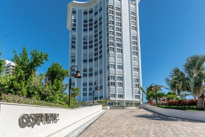 Direct ocean view from this renovated 3rd floor unit. The Corniche sits right on the beach. Large balcony. Open kitchen, stainless steel appliances, granite counter tops, split floor plan, plantations shutters in bedrooms. Master bathroom, granite counters, walk-in shower. Guest bedroom with walk-in closet, Master Bedroom with walk-in closet. Crown molding, marble floors through out unit. Impact windoors & doors.1 garage assigned parking space.  New lobby, hallways, exercise room, summer kitchen, pool and tennis court,
