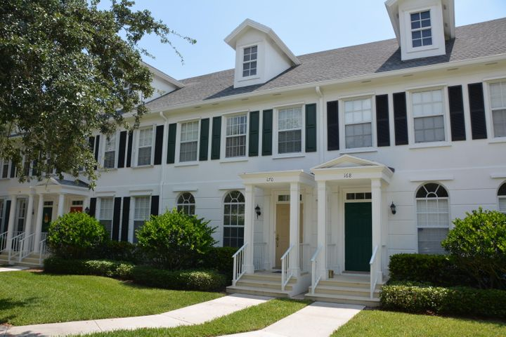 Awesome 3 BR/ 2.5 BA town home with courtyard patio and 2 car garage in Abacoa's charming Newhaven neighborhood.  Mexican tile throughout the main living area, wood flooring on staircase and upstairs hallway.  Across from the neighborhood community center, community pool and playground.  Walking distance to schools and restaurants, and only 2.5 miles to the beach!!!