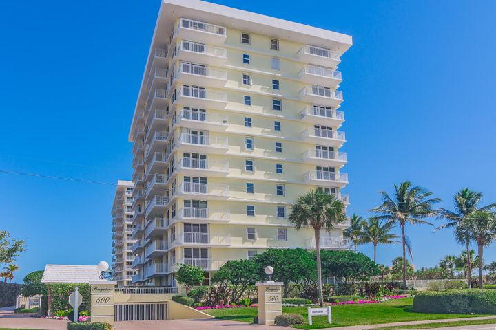 Rarely available  large 2/2 at the Brigadoon in desirable Juno Beach. East Oceanfront building with South exposure. Clean well maintained  condo. Hurricane Shutters, underground garage parking, Steps to the Beach. Close to Restaurants and shopping.