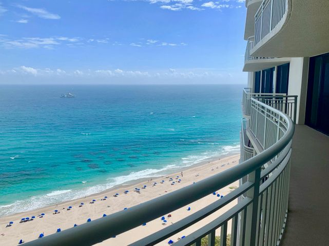 32nd FL unobstructed ocean views due EAST to oceans' horizon. Enjoy beautiful early morning sunrise from balconies and impact glass sliding doors spanning the entire width of the condo with balcony access from all rooms. Kitchen area in ''E'' stack has extra alcove for office or extra pantry space. Interior laundry area. Garage parking #90. Offered unfurnished. Tiara offers resort style amenities including valet parking, 24 hour concierge service in lobby + guard gate. Enjoy the large heated swimming pool in a tropical setting, hot tub, tennis courts, his and her fitness areas, steam/sauna. Gazebo oceanfront restaurant plus 43rd story rooftop MARQUIS room with 360 degree WOW Views + nightly bar service + snacks or dinners + parties too.  Lots of year round social activities!