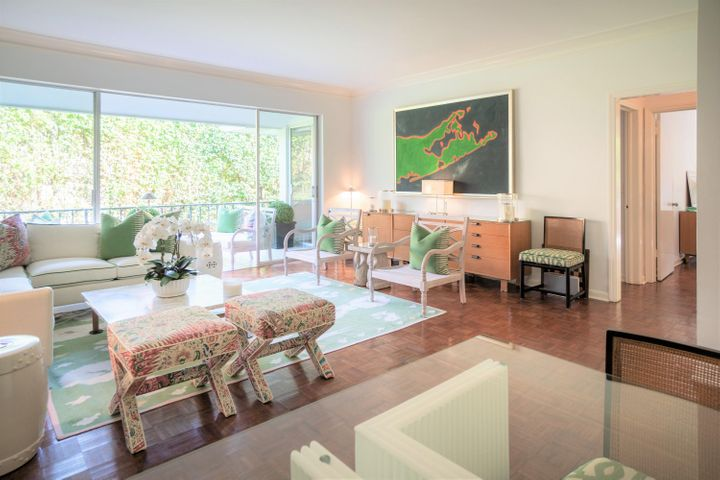 Two bedrooms, two bathrooms, walk in closets in both bedrooms, private balcony and designated parking spot in front of the building.  Conveniently located In-Town three blocks from the beach, two blocks from the intracoastal and town marina and two blocks from Worth Avenue and numerous dining options.  The boutique building has open air hallways and stairwell so no inconvenience with a busy lobby or doorman.  The building has only 8 units total and only four units per floor.