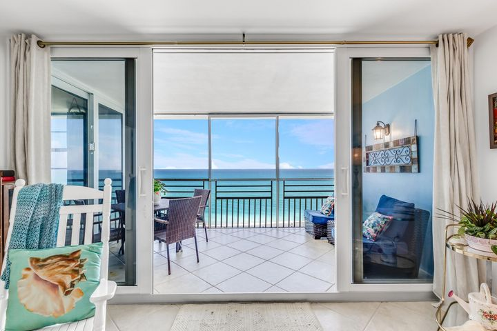Gorgeous oceanfront top floor 2/2 condo with large custom open kitchen with granite counter tops and open to the living room with impact sliding glass doors to the oceanfront balcony with sweeping views of Juno Beach.  The Master bedroom also has an impact glass slider to the balcony and large master bath plus walk in closet.  The guest bedroom is a generous size with a guest bath recently remodeled.  The stunning views are natures way to ease the cares of the day.  With magnificent waterfront restaurants and shops close by and easy access to I95 and the Turnpike this is an awesome place to call home, Annual rentals only 365 days! #ComeJoinUs