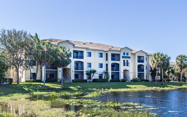 Amazing water views to be enjoyed in this third floor condo. Pet friendly gated community with resort style pool, gym and amenities. credit score of 675 or greater Gross income $3,600 or greater.INCLUDED IN RENT: Water/Sewer, Valet Trash, all included in rental price.