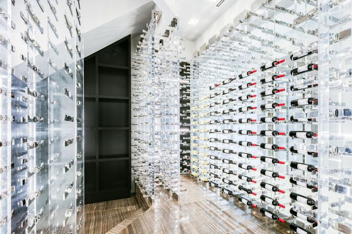 Glass Enclosed Wine Room