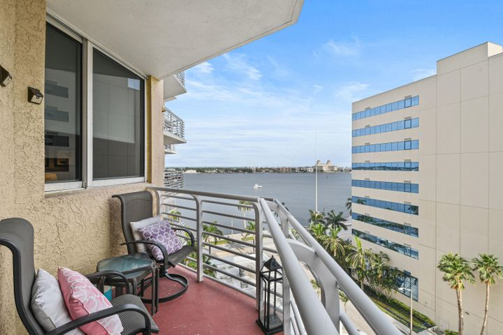 Beautiful water and sunrise views from the 2 balconies included with the residence