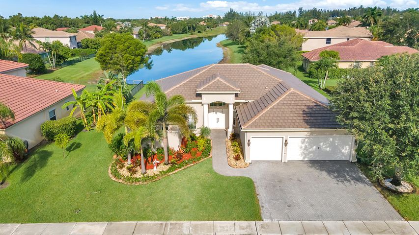 Beautiful home on a lake in gated community