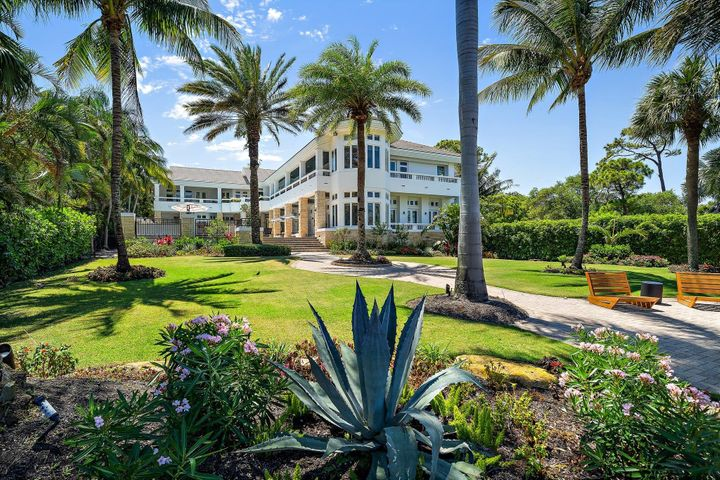 enchanting gardens lead to the dock and Intracoastal