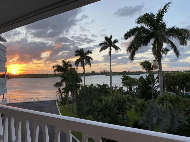 View of the Sunset from the huge extended balcony on the 4th floor of the President of Palm Beach