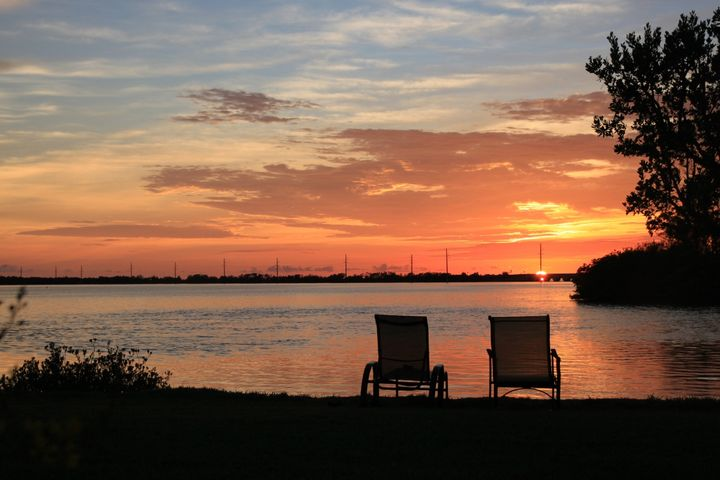 Amazing Sunset View from your beach in the back yard.