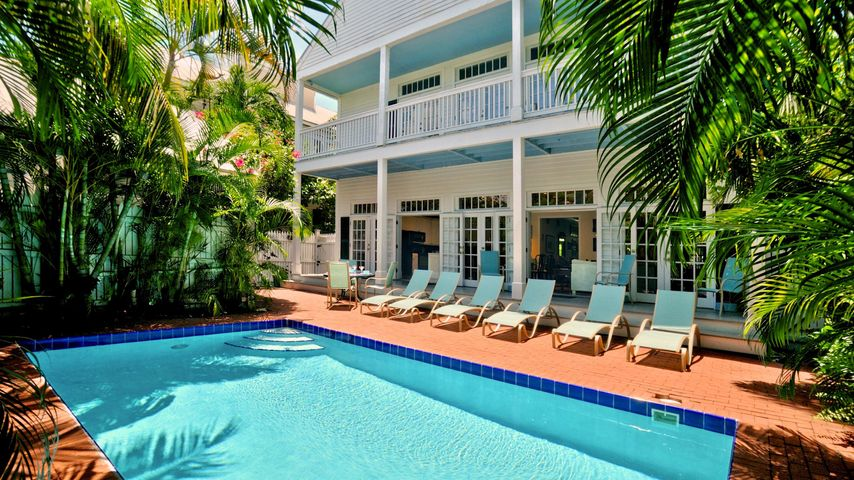 Conch Casa Grande has a spacious and private pool area...