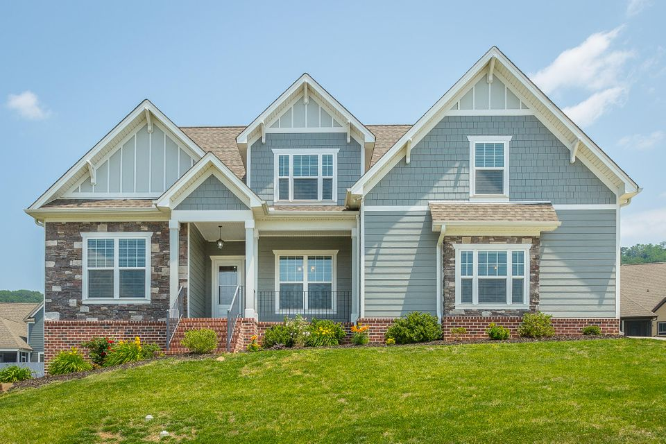 Image of lovely house in the cul de sac neighborhood of McKenzie Farms, Ooltewah, TN