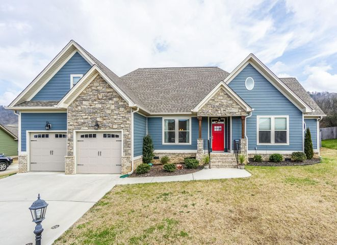 Come see this beautiful well-maintained one-owner home in the sought-after neighborhood of McKenzie Farm. So many great features to mention.  Enjoy the unobstructed view of White Oak mountain. Walk your children to Ooltewah Elementary. There are three spacious bedrooms and two full baths on the main floor. The upstairs bonus room (with a ductless mini split system) is complete with a large closet and full bathroom, perfect for a secluded fourth bedroom or office. With high ceilings and granite counter tops throughout, this home has plenty of upgrades including high-end kitchen appliances, custom cabinets, natural gas fireplace, a whole home water filtration system, and a gas tankless water heater. A fenced in backyard and covered, stained deck make this home great for outdoor entertaining. There are no HOA fees in this neighborhood and no city taxes. Located just off Georgetown Road, this opulent neighborhood is 15 minutes from the airport and ten minutes from the largest shopping mall in Tennessee. McKenzie Farm offers easy access to downtown Chattanooga and is close to quality schools, restaurants and entertainment.