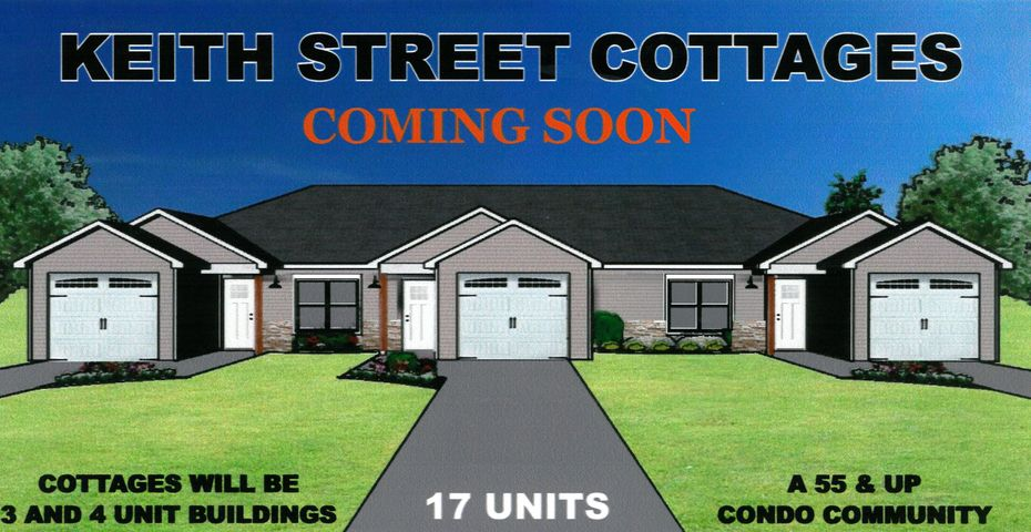 Coming Soon! Keith Street Cottages a Condominium Association, Cleveland's newest 55 and older community now being developed. 2 bedrooms, 2 bath, 1 car garage featuring hardwood floors, Pre-Construction Pricing includes a FREE refrigerator or washer/dryer package your choice in addition to a glass-top range, dishwasher and microwave, granite counter-tops. Handicapped accessible. Call now to reserve your Cottage now! Only 17 available.
