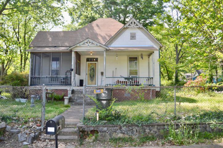 Investment opportunity in Saint Elmo. This home has lots of room to expand. Hardwood floors are original and with a little work would look great again. Completely fenced in yard. All offers will be considered. Priced at the apprised price.Sold- AS-IS