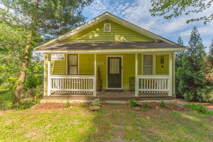 Move-In Ready!  Totally charming, perfectly located 2BR/1BA St. Elmo Bungalow with sunset views.  Great backyard for a dog or garden, back deck, hardwood floors, covered front porch, two blocks from public access to Guild trail.  Easily walkable to St. Elmo city center for dining or shopping.  It offers the best of city life and outdoor recreation access.   Plenty of options for expansion or to add a second level for short term vacation rental- Tons of future potential here.  The basement is waiting to become a master suite or apartment.  Find out more about living in an historic St. Elmo home at http://www.st-elmo.org/resources/historic-zoning-st-elmo