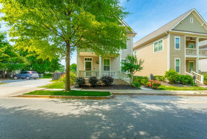 Don't miss out on your chance to own a home in the incredibly desirable Historic Southside District of Chattanooga.This home is adjacent to Water Tower Park and Battle Academy and is just steps away to the newest and most exciting Southside venues, art galleries, coffee shops and restaurants like Southside Pizza, Clyde's, Stir, Alleia and many more.  This 3 bedroom, 2.5 bath home has open concept with the living room open to the kitchen which is perfect for family living or entertaining, no detail has been over looked from the beautiful hardwood floors, gas log fireplace, spacious kitchen with granite counter tops, stainless appliances, gas range, custom cabinets, tankless water heater, undercounter lighting with 3 settings, recently upgraded tile in half bath, high ceilings, beautiful moldings and trim upstairs is just as impressive with spacious master bedroom with spa-like master bath with tiled shower, walk in closet, master also has access to outside covered balcony where you can enjoy reading a good book or just a quiet evening at home.  All smoke and carbon monoxide detectors are new.  Also included on the second floor are 2 more generous sized bedrooms and laundry room.  Another added bonus is plantation shutters throughout the house.  Two car garage.  Outside is even more impressive because this one actually has a yard, the seller recently surveyed and fenced in an area that is great for a swing set or area for your dog.  Exterior has Hardie siding, brick foundation, a 30 year architectural roof, main level side porch great for grilling.  Only minutes to I-24 and Hwy 27.  Come see for yourself and find out why the Southside is one of the hottest places to call home.