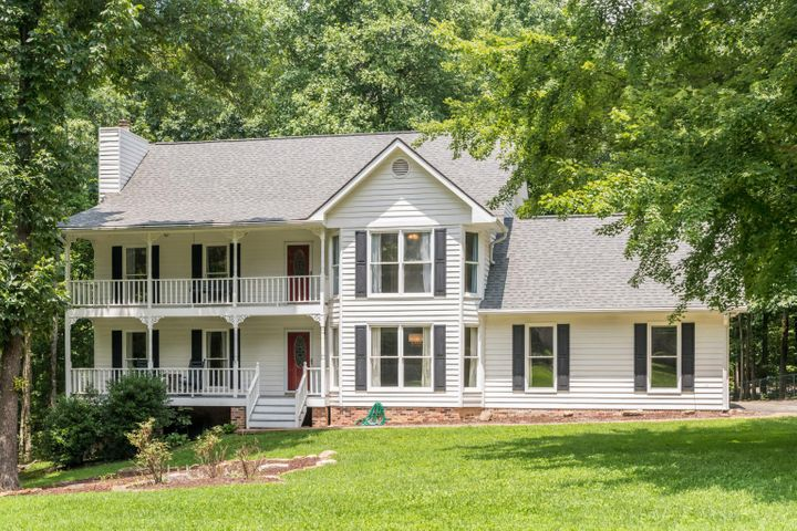 Welcome to Signal Mountain! 3106 Bee Tree Lane is a large, almost 1 Acre lot w/ plenty of mature trees, in the highly sought after Fox Run Subdivision. The home has 3 Bedrooms / 3 Full Bathrooms, large eat-in kitchen, separate dining room & oversized, attached 2 car garage. Downstairs, there is large, finished, walkout basement for extra storage, playroom, gym, in home office, etc. There are 2 huge covered porches on both the 1st & 2nd floor that overlook the front yard & a screened in porch on the back, off the kitchen, that walks out to the huge back yard. Have a pup? This home comes with an extra large fenced run under a canopy of trees! Easily convert the second living room/office on main level to a 1st floor master bedroom! Already has an attached full bathroom! Call for showing today ** Buyer to verify square footage. Buyer is responsible to do their due diligence to verify that all information is correct, accurate and for obtaining any and all restrictions for the property.**