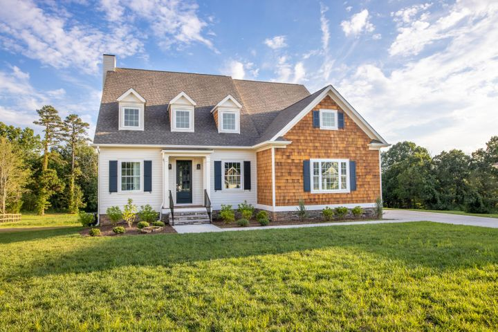 This part of Signal Mountain has the lowest taxes on Signal Mountain. This is the last new construction in the neighborhood and is on the largest premier lot. This large cul-de-sac lot that backs up to a long time horse farm and has views from every room on the back. The home was designed after the 2015 HGTV Dream Home in Martha's Vineyard. The first floor is an open floor plan with tons of room for entertaining and also features a large Master Suite. There is a large covered/open deck on the back of the home facing the woods with an outdoor fireplace. There are 2 Bonus/Play Rooms on the second floor and there is still a decked walk out storage area. Contact us for more information on this home.