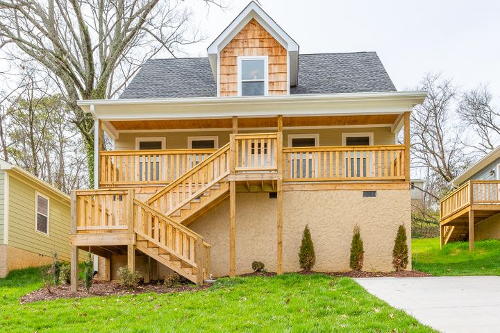 Newly built 3-bedroom, 2.5-bathroom home for sale.   Located just minutes from downtown Chattanooga and popular North Shore this beautiful 2-story home is move-in ready.  Living room with gorgeous hardwood floors welcomes you home.  Open floor plan leads you from your living room to spotless new eat-in kitchen featuring designated dining area, granite countertops, island, and stainless-steel appliances.  Powder room with tile floor is perfectly located for visiting family and friends.  Your own private oasis awaits on the main floor in your master bedroom with ceiling fan, hardwood floors, huge walk-in closet, and master bathroom.  With a stunning walk-in tile shower, double vanity, tile floor, and tub to soak in, you will want to stay home. Hardwood steps lead you upstairs to a spacious sitting area bordered by two generous additional bedrooms and full bathroom. Copy and paste this link to take a virtual tour https://my.matterport.com/show/?m=LtNNYd6e983&brand=0  or call today and schedule your showing before this new construction home is gone.