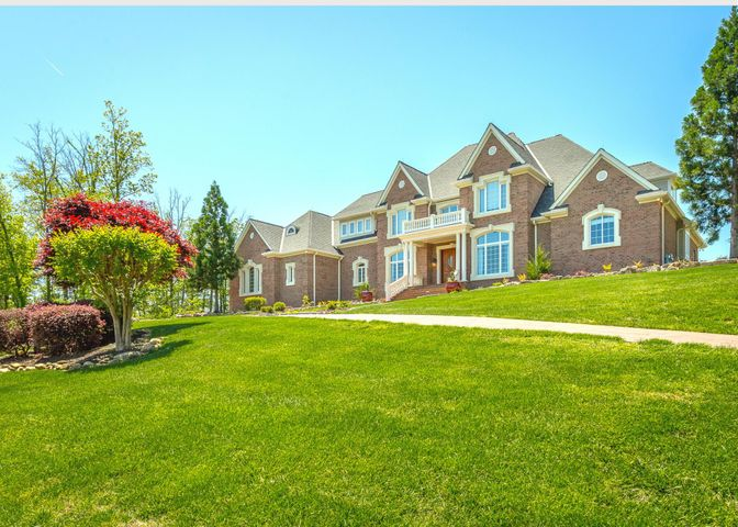 Copy Link for 3D virtual tour https://is.gd/lkRmyQ Welcome to 2179 Heavenly View, reaching the highest point of the Horizons neighborhood. Breathtaking views can be seen from all points of this all-brick home; from views of majestic mountains to overlooking the city, all presented in a private lot at the end of a cul-dec-sac. Through the gorgeous double doors you'll be greeted by the sleek, beautiful dark marble flooring surrounded by radiant natural lighting from the large windows of the lobby ahead, leaving an exceptional first impression! The separate dining offers beautiful lighting and views making extended conversations over a delightful dinner meal made from scratch, using the utmost top-notch appliances supplied in the spacious kitchen. With the kitchen comes the breakfast room showcasing one of the most significant scenic views viewed from inside the home. All while being able to enjoy family time by the fireplace in the living room just in the next room. The master bedroom ensuite is also on the main level with it's own fireplace, walk in shower, jetted tub, enormous walk-in closet, a study, wet bar and a balcony for viewing to top it all off. Upstairs are 3 additional bedrooms with 2 sharing a Jack and Jill bath and additional lobby. With over 8,000 square feet, this home offers countless entertaining opportunities. This includes the entire downstairs, which provides guests with a full kitchen, and full-sized complete master ensuite (or a complete in law suite), a secondary den with a fireplace, a work-out room, recreational room and extra living space to complete the perfect picture of your dream home. There is a 4-car, side entrance garage and an abundance of storage throughout.